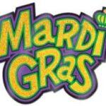 Decor  Mardi Gras Sign Glittered