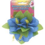 Luau Hair Clip Blue Hibiscus