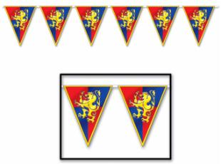12 Ft Medieval Pennant Banner