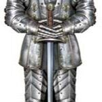 A Cutout Suit Of Armor 6ft