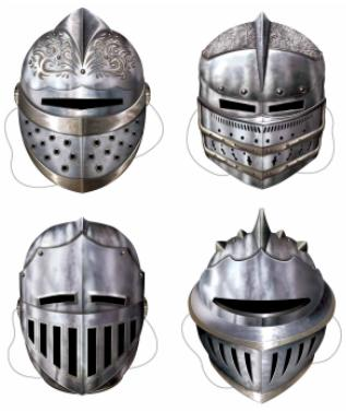 4 Medieval Paper  Masks