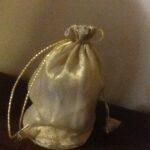 Favor Bag Gold Organza  Small