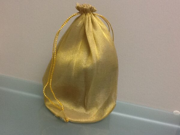 Favor Bag Gold With Round Bottom