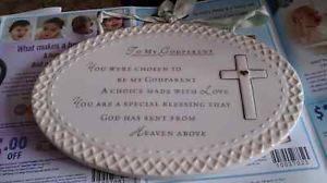 God Parent Ceramic Plaque
