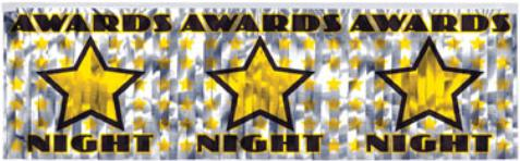 Decor Banner Award Night Fringed