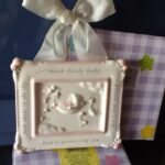 Gift Baby Plaque with ribbon