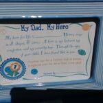 Gift Dad My Hero Certificate Frame