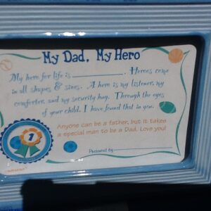 Gift Dad My Hero Certificate Frame