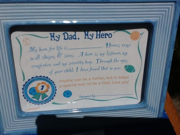 Gift Dad My Hero Certificate Frame Party And Gifts 4u