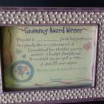 Gift Gramdma Certificate Frame
