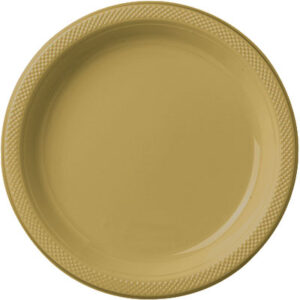 Tableware Gold Plastic Lunch Plates
