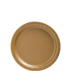 Tableware Gold  7in Plates Paper 24ct