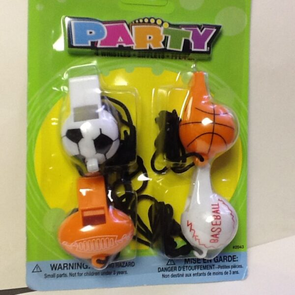 All Sports Lootbag  Whistles 4ct