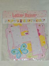 1st  Birthday Hug & Stitches Letter Banner