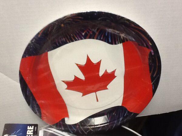 Canada Flag Celebrate Plates