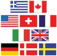 A International Mini  Flag Cutouts 10ct