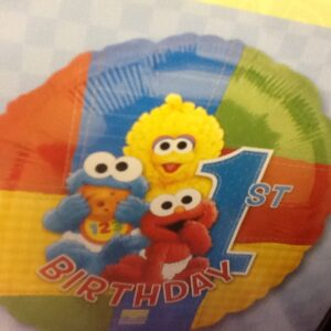 Birthday 1st Birthday Balloon Sesame street