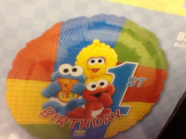 Birthday 1st Birthday Balloon Sesame street
