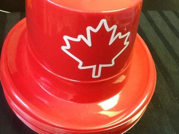 Canada Day Top Hat Plastic