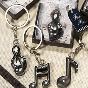 Favor Keychain Musical Notes