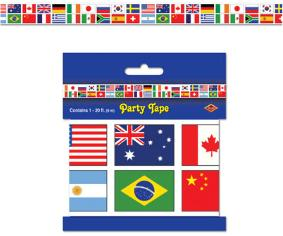 A International Flags Party tape