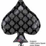 Balloon Black Spade 22x18in