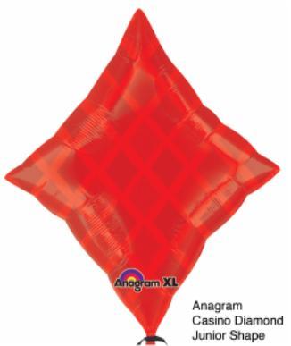 Balloon Casino Red Diamond 23x19in