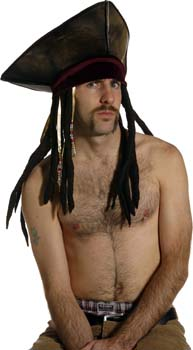 Pirate hat with dreadlocks