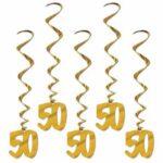 50th Anniversary Decor-Hanging Swirls 5ct