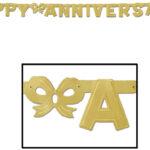 Annivesary Banner  Gold