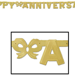 Annivesary Banner  Gold