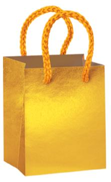Favor Bags Gold Mini  4ct