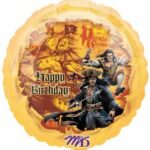 Balloon Pirate Happy Bday 18in