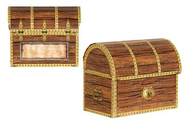 Pirate treasure treat boxes 4ct