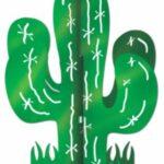 Cactus 3d Centerpiece 11in