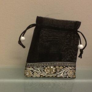 Favor Bag Black With Trim