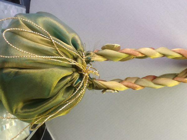 Flower Basket Tissue Green