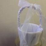 Flower Basket satin with bow