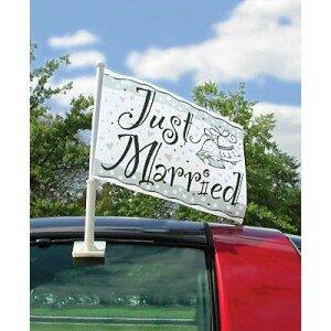 Wedding Car Flag