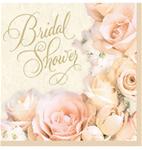 Tableware Bridal Shower Dazzling Rosegold Napkins