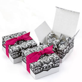 Damask Design Favor Box 25ct