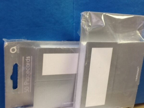 Place Cards Silver 50ct