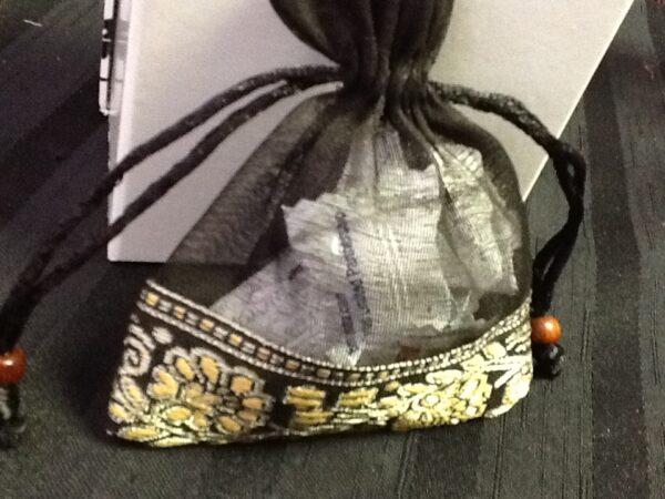 Favor Bag Black Organza With Trim