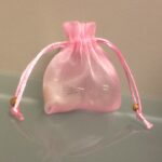Favor Bag Pink Organza