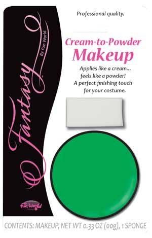 Green Cream to Powder Face Paint