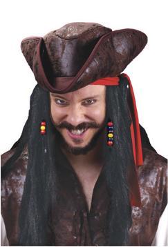 Pirate Carribean Hat with Dreadlocks