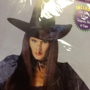 Witch Hat,Nose,Cape Kit