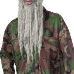 Beard And Wig Set Grey