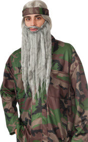 Beard And Wig Set Grey