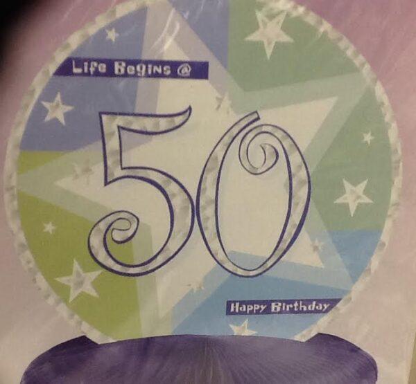 Birthday Shimmer  50 Centerpiece